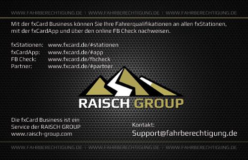 fxCard hinten - Fahrberechtigung.de