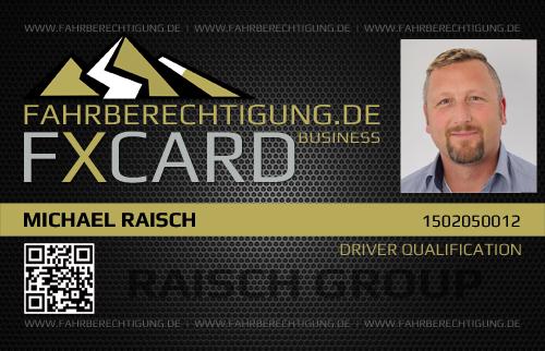 fxCard vorne - Fahrberechtigung.de