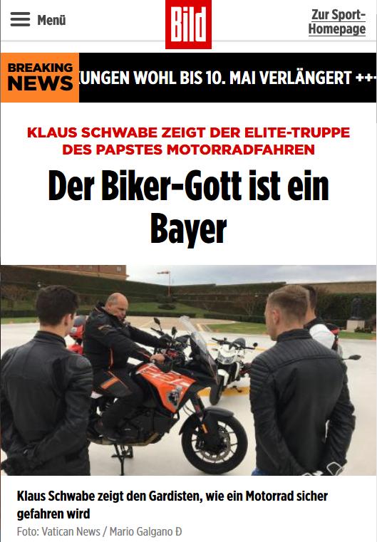 Biker-Gott Klaus Schwabe